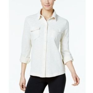 Columbia EasyGoing Button-Down Top Chalk